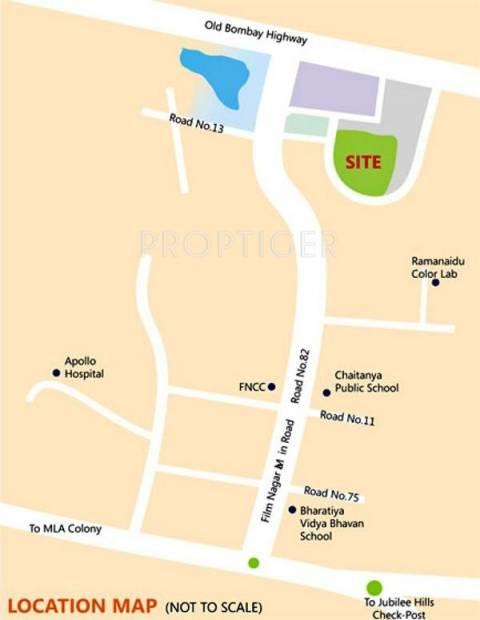 enclave Images for Location Plan of Sri Aditya Enclave
