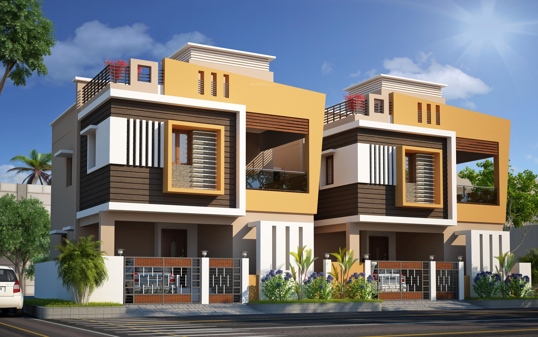 Main elevation image of pappas builder anugraha villas for Villa elevation photos