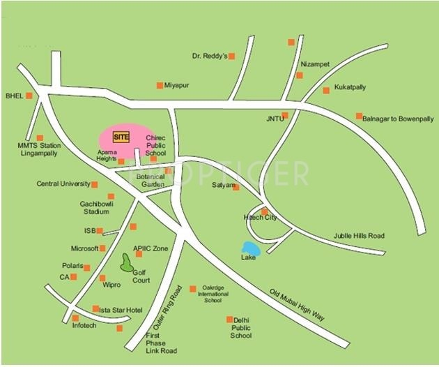 Images for Location Plan of Gauthami Abhiteja Paradise
