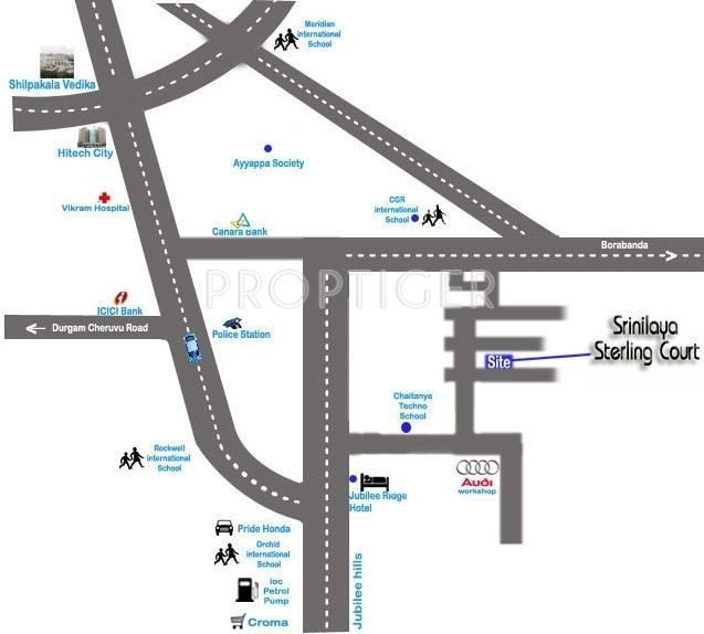 Pradeep Constructions Srinilaya Sterling Court Location Plan