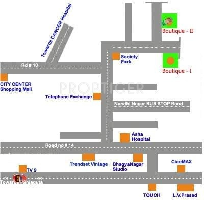 Pradeep Constructions Boutique Srinilaya II Location Plan