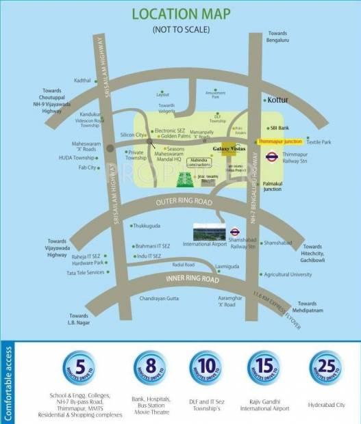 Images for Location Plan of Anuradha Galaxy Vistas