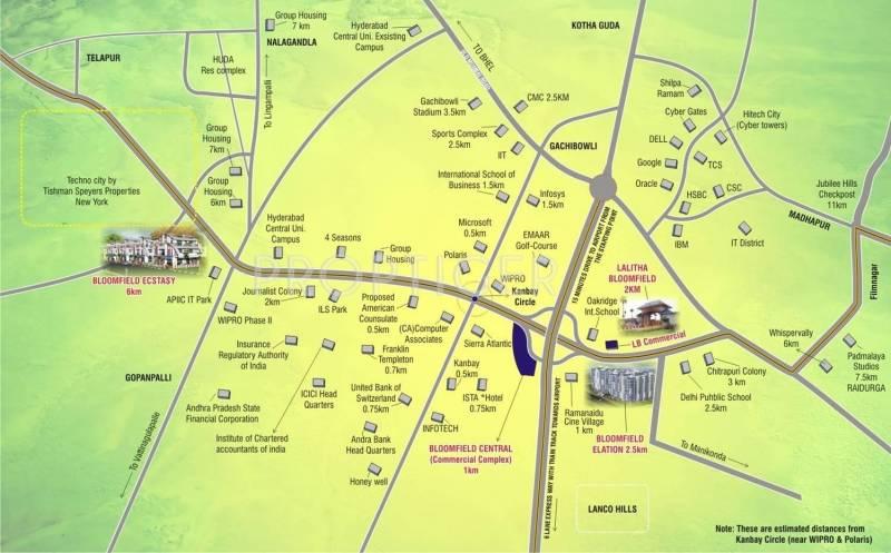 Images for Location Plan of Vasudeva Bloomfield Elation Villas