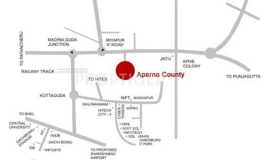 Images for Location Plan of Aparna County