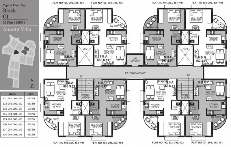 Images for Cluster Plan of KN Ananta Villa
