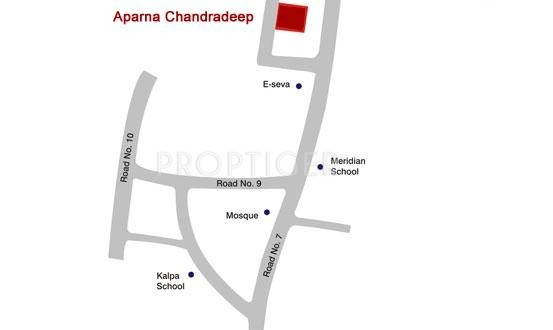Images for Location Plan of Aparna Constructions Chandradeep