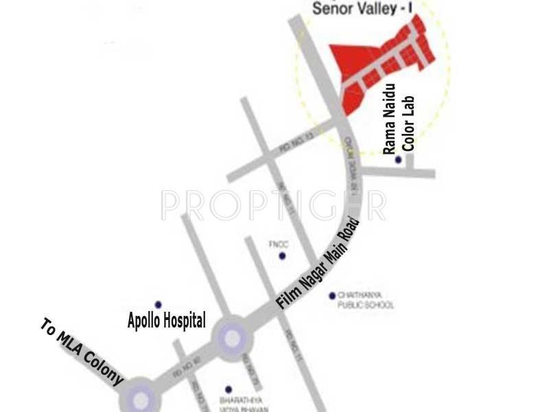 Images for Location Plan of Aparna Constructions Senor Valley I