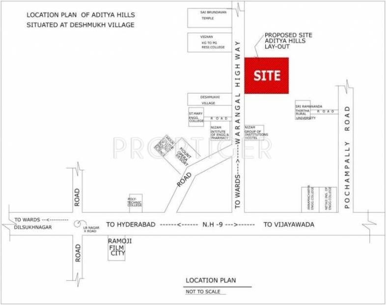 Images for Location Plan of Bhavya Aditya Hills