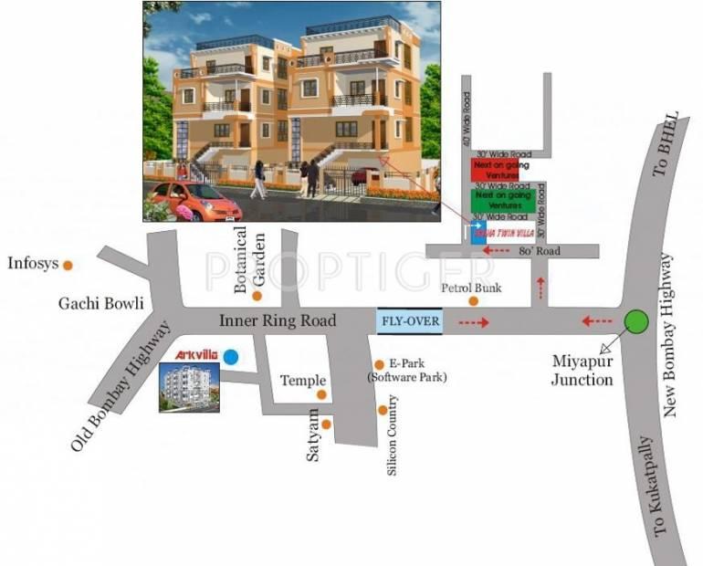 Srinilaya Sneha Twin Villa Location Plan
