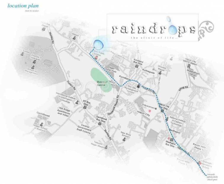 Images for Location Plan of Alekhya Raindrops