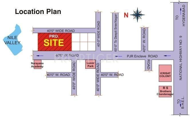 BR Constructions Hemadurga Wonder Location Plan