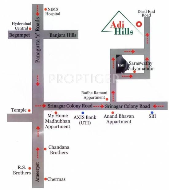 Srinilaya Adi Hills Location Plan