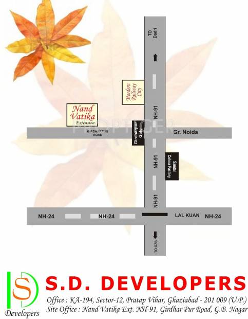 Images for Location Plan of SD Nand Vatika Extension Plots