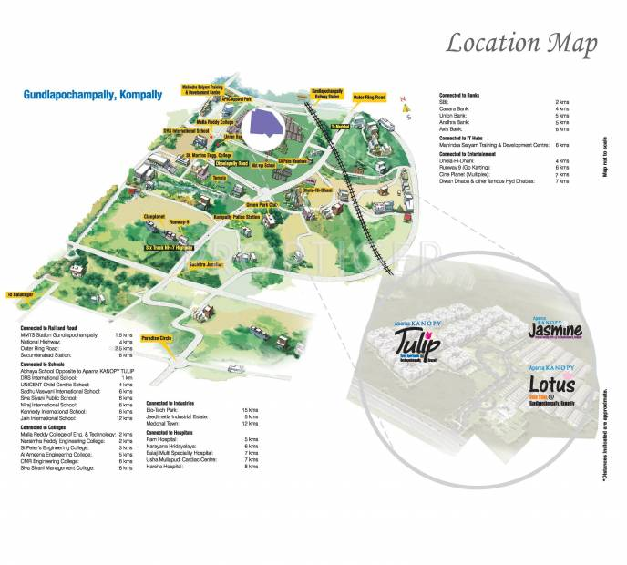 Images for Location Plan of Aparna Constructions Kanopy Jasmine