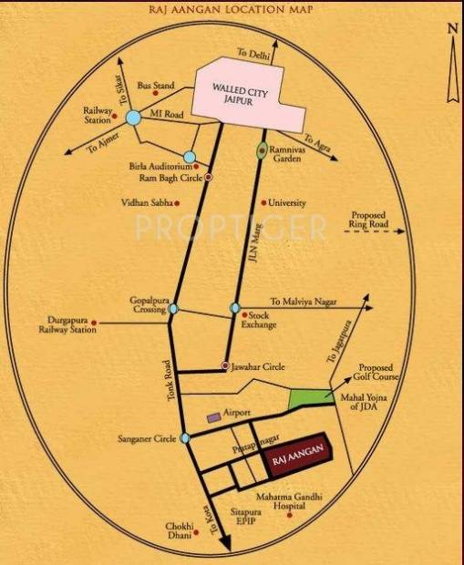 Images for Location Plan of Siddha Group Raj Aangan