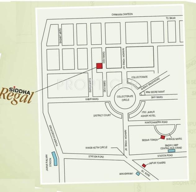 Images for Location Plan of Siddha Regal