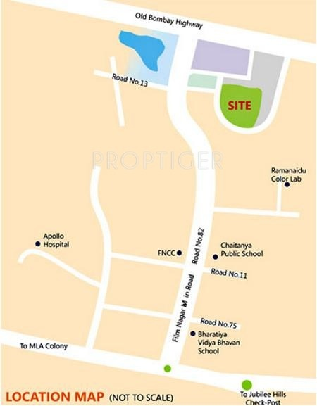 hill-top Images for Location Plan of Sri Aditya Hill Top