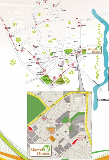 Images for Location Plan of Manisha Marvel Home