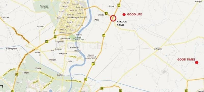 good-life Images for Location Plan of Sangath Good Life