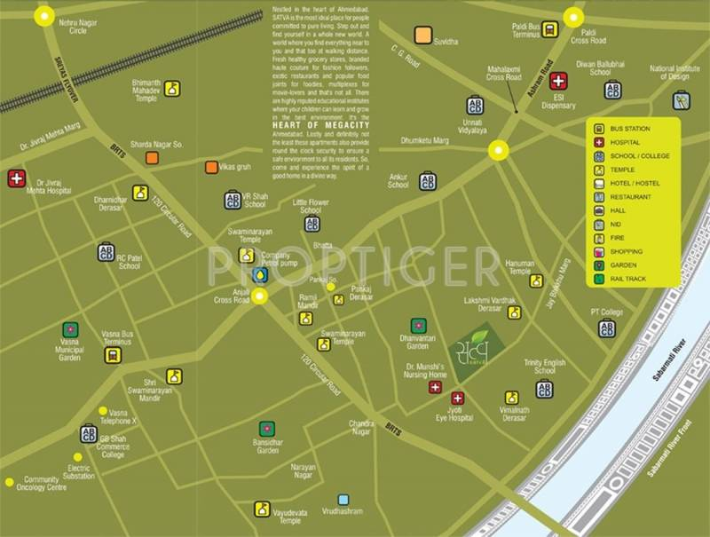 Ganesh Housing Satva Location Plan