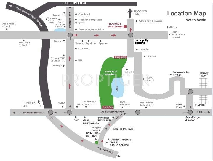 Images for Location Plan of Praneeth Westwoods
