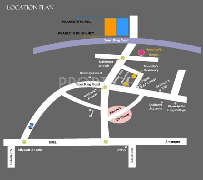 Images for Location Plan of Praneeth Homes