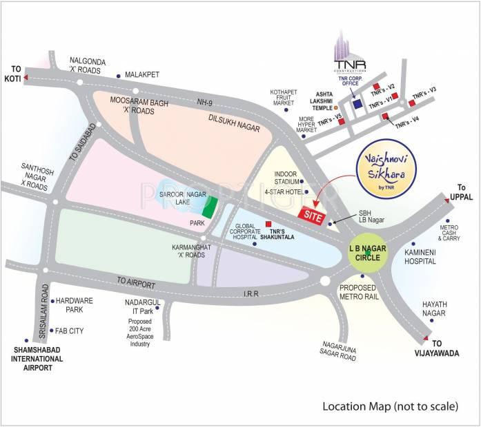Images for Location Plan of TNR Vaishnovi Sikhara