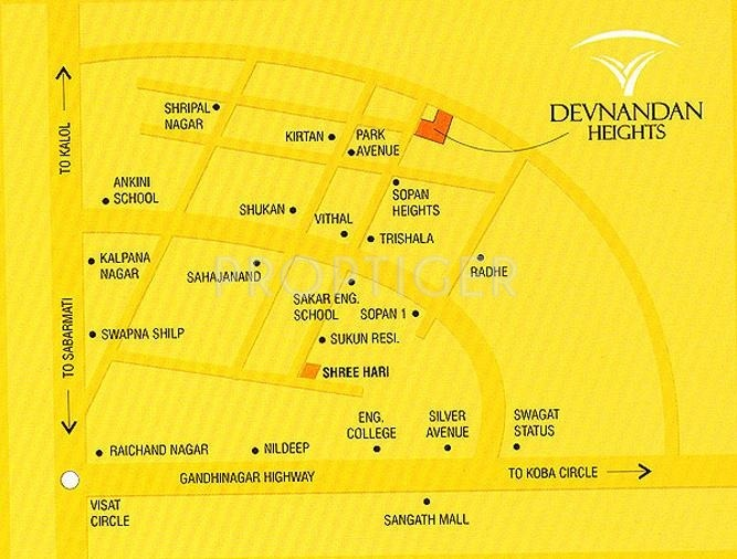 heights Images for Location Plan of Devnandan Devnandan Heights