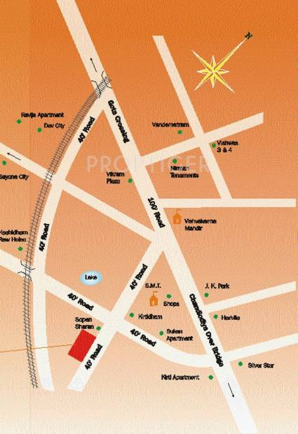 Images for Location Plan of Simandhar Developers Residancy 2