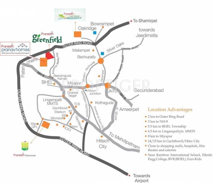 Images for Location Plan of Praneeth Pranav Homes