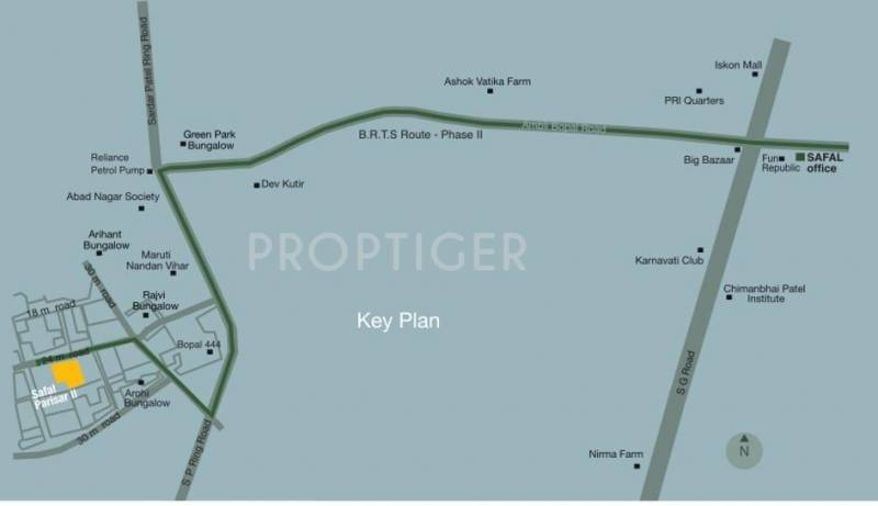 parisar-ii Images for Location Plan of Safal Realty Parisar II