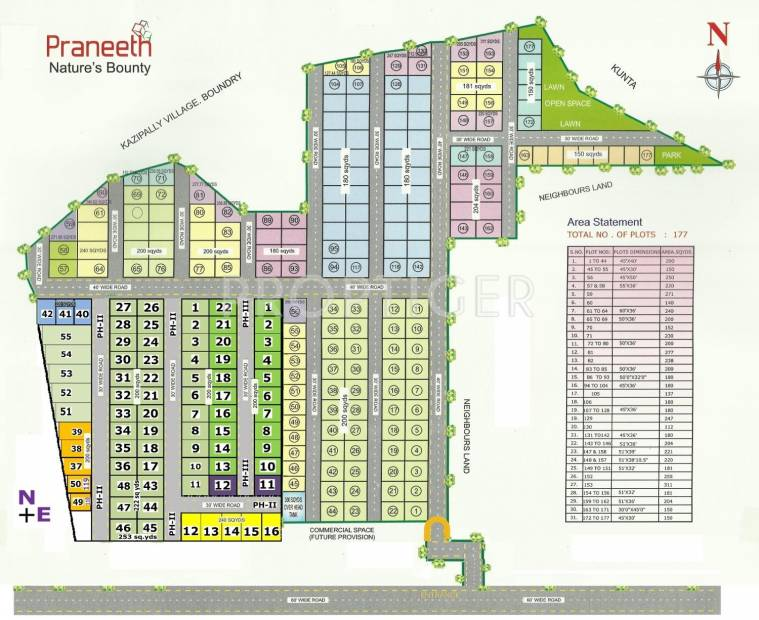 Images for Layout Plan of Praneeth Natures Bounty Phase 2