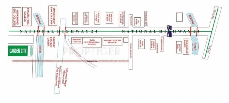 SNR Neelkanth Developers Garden City Location Plan