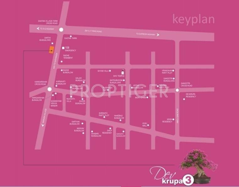 Sahjanand Buildcon Dev Krupa III Location Plan