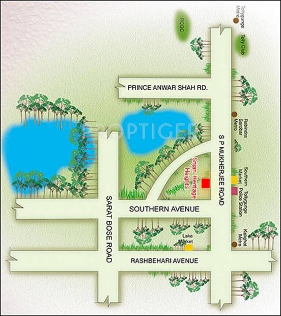 Images for Location Plan of Heritage Realty Group Srijan Heritage Heights