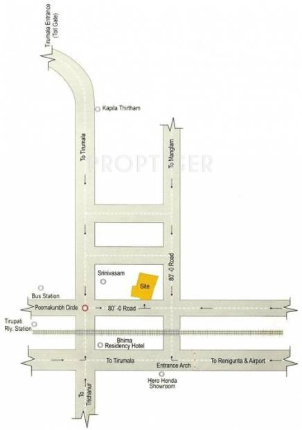 Images for Location Plan of Theme Ambience Tirupati Temple Town