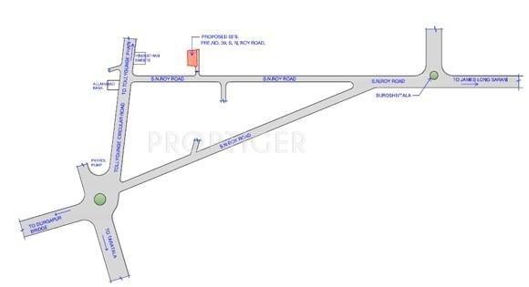 SKDJ Group New Alipore Green Location Plan