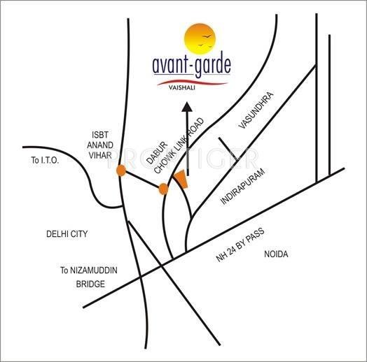 Star Realcon Group Avant Garde Location Plan