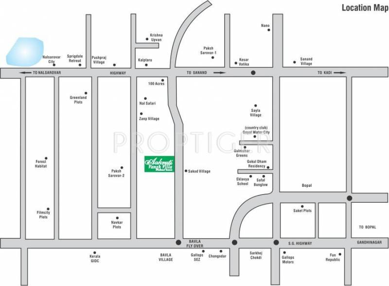 Images for Location Plan of Aroma Aakruti Vansh Villa