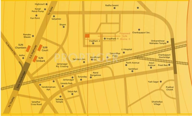 Images for Location Plan of Sun Builders Sun Divine 3