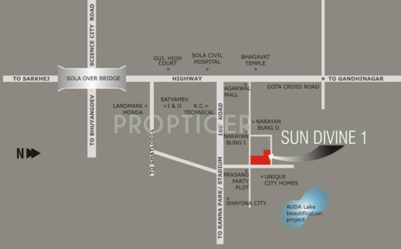 Images for Location Plan of Sun Builders SUN DIVINE 1
