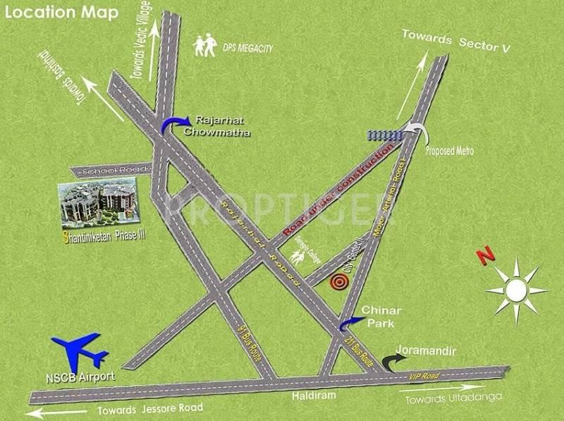 Images for Location Plan of Sweet Shantiniketan Apartment III