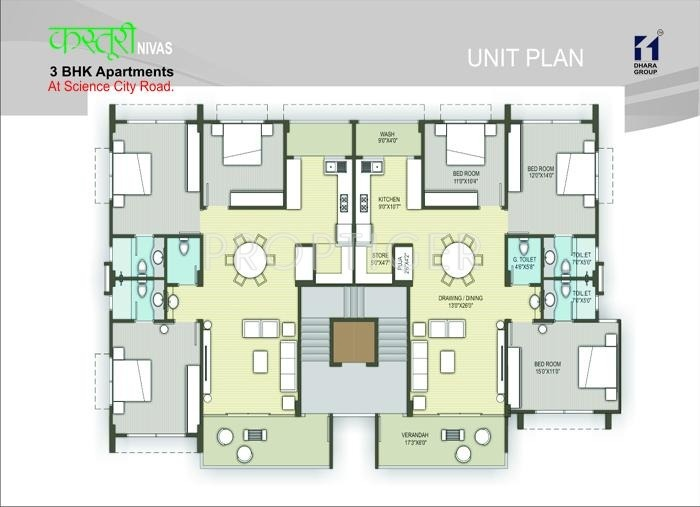 Images for Cluster Plan of Dhara Kasturi Niwas