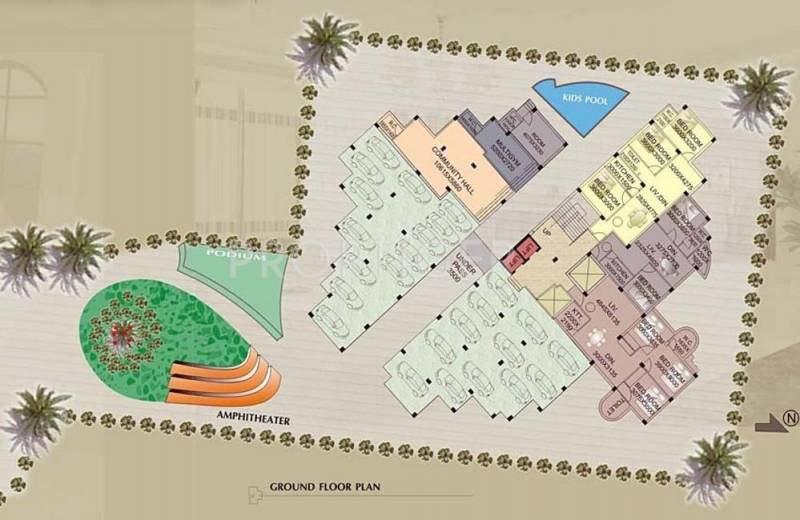 Images for Cluster Plan of Sweet Hut Group Shantiniketan Apartment II
