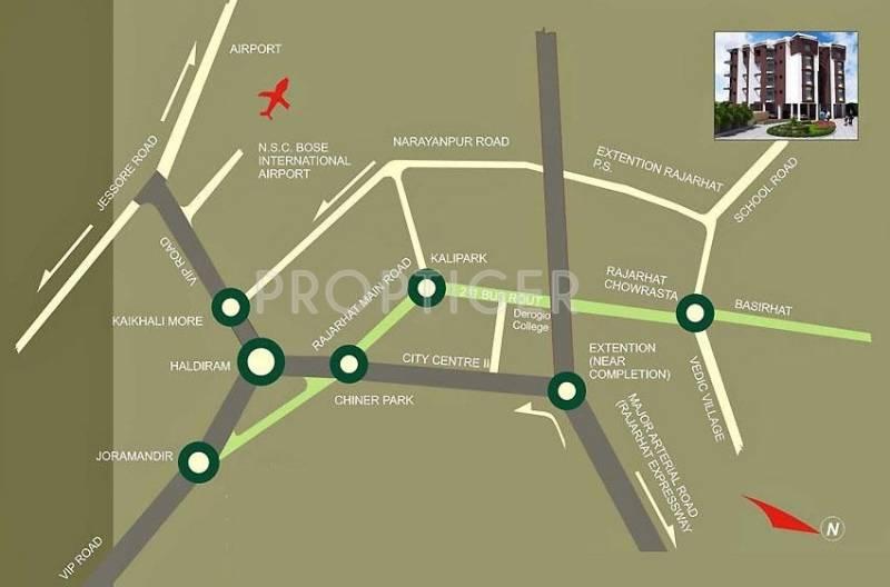 Sweet Hut Group Shantiniketan Apartment II Location Plan