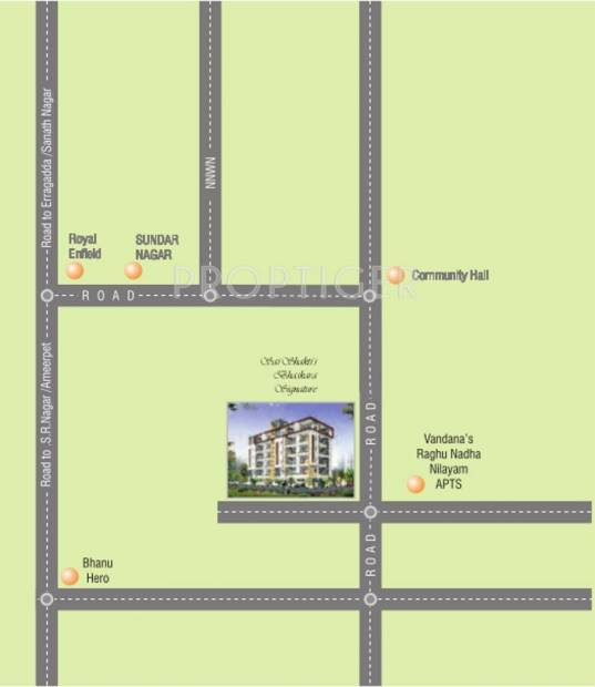 Saishakti Infrastructure Bhaskara Signature Location Plan