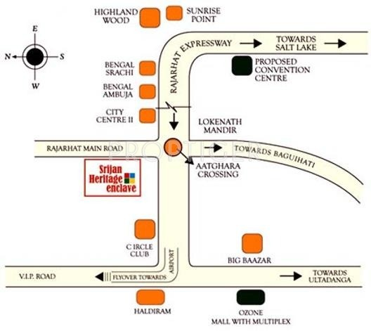 Images for Location Plan of Unimark Group Srijan Heritage Enclave