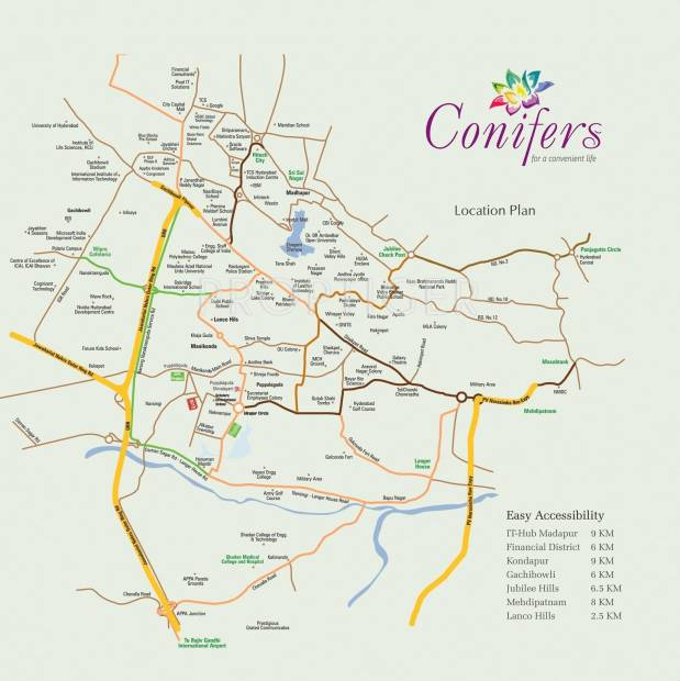 conifers Images for Location Plan of Aryamitra Conifers