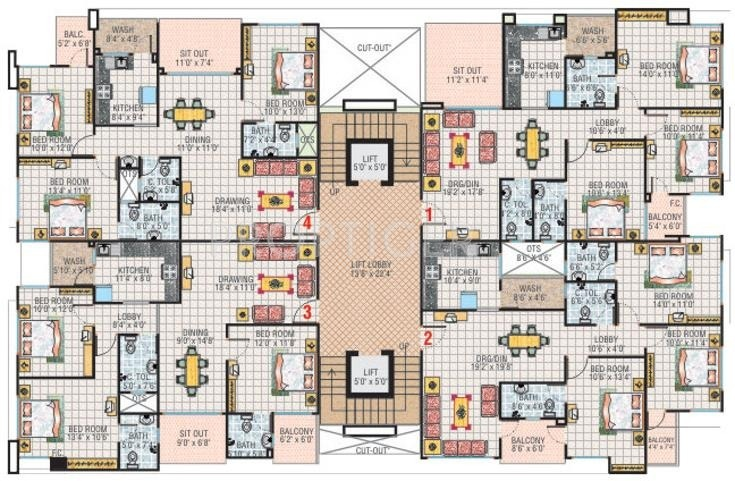 Images for Cluster Plan of Sunil Emerald Court
