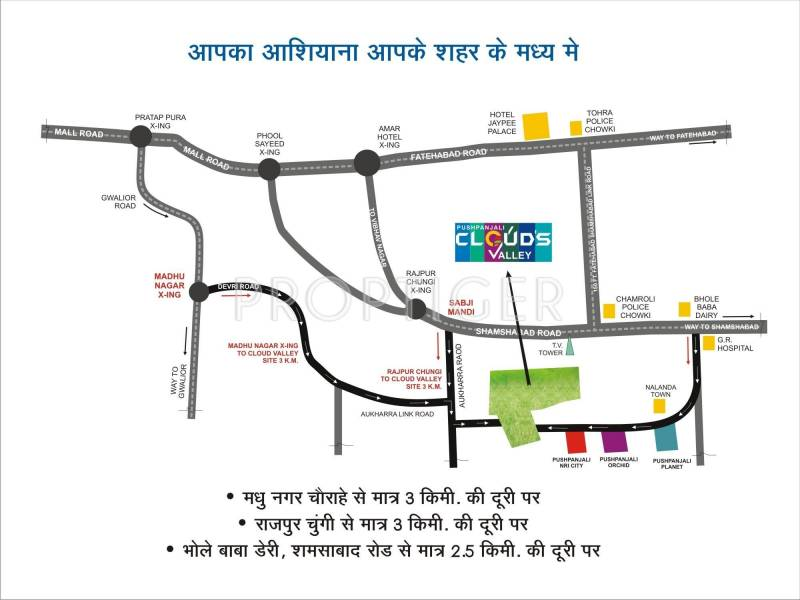 Images for Location Plan of Pushpanjali Clouds Valley